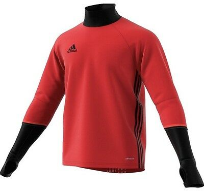 7e456d490 Adidas S93542 Men's Red Black Condivo 16 Long Sleeve Soccer Training Top M  NWT