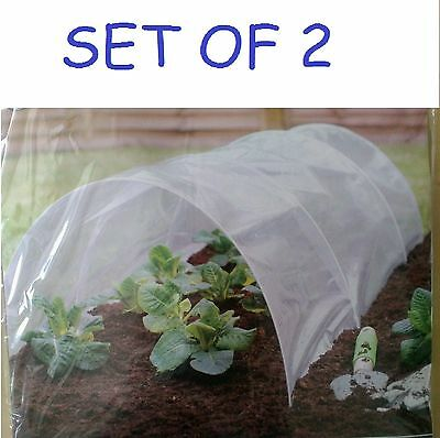 POLY TUNNEL CLOCHE GREENHOUSE GARDEN GROW PROTECT PLANT 1.72M X 45cm X 32cm appr
