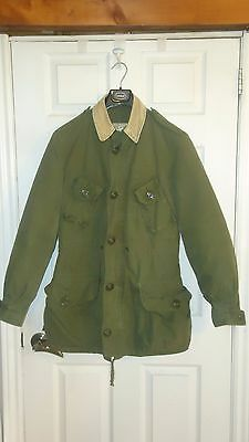 vintage  military COMBAT JACKET WITH REMOVABLE COLD WEATHER LINER SZ SMALL