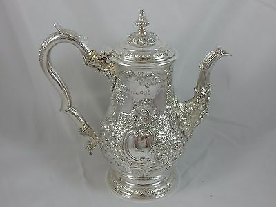 `THE BEST` , GEORGE IV solid silver COFFEE POT, 1824, 1072gm