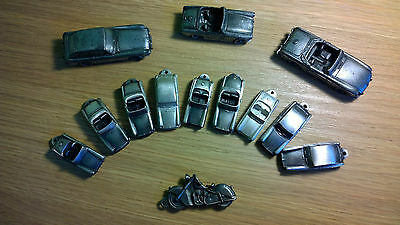 LARGE COLLECTION of 12 Pewter MG Cars (MGB / Midget / GT?) - all included!
