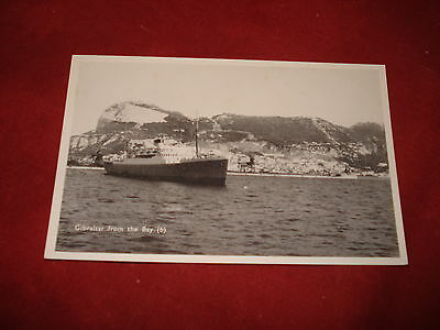 VINTAGE GIBRALTAR: View from the Bay b&w SHIP