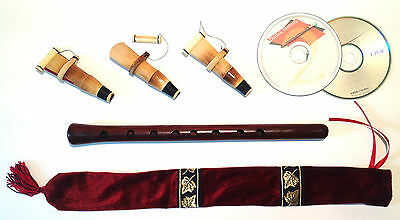 Duduk Professional Armenian 3 reeds CD case Flute Oboe Mey Ney Instruction NEW