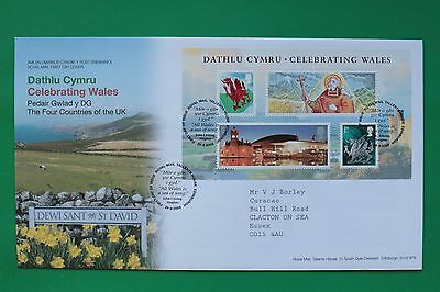2009 Celebrating Wales Royal Mail First Day Cover Tallents House SNo44898