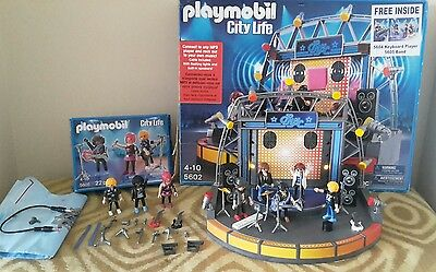 Playmobil City Life Stars Stage Box instructions 5602 Inc 5604 5605 band retired
