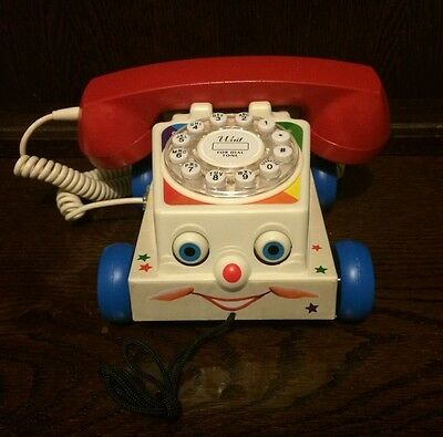 *UNIQUE* Real Life Working Chatter Phone Novelty Telephone Retro 80s Toy Story
