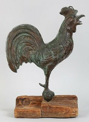 Full-bodied copper rooster weathervane Lot 272