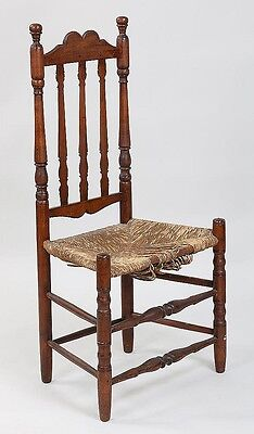 18th century American country banister back chair Lot 181