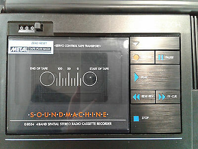 PHILIPS SOUNDMACHINE D 8554 -Der Kult Retro 80er Ghettoblaster Spitzenmodell TOP