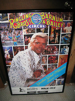 Vintage Ringling Brothers Barnum & Bailey Circus Poster 1990 Farewell Tour