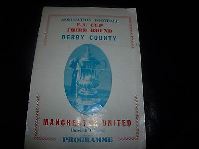 derby v man utd fac 20/1/1966 pirate starkey