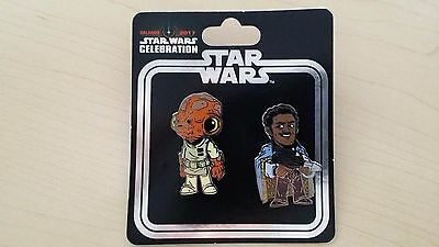 Lando Calrissian and Admiral Ackbar pin set Star Wars Celebration Orlando 2017