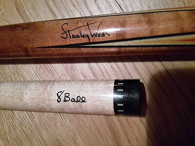 STANLEY WEST - BILLARD-POOL CUE-QUEUE from 80s/90er RARITÄT + 2x OT shaft *RARE*