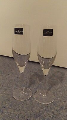 champagne flutes, glasses x2 dartington crystal, New in box