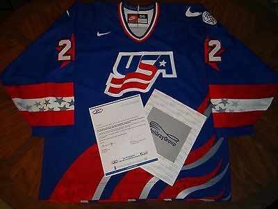 USA 1996 World Cup of Hockey Game worn Jersey Konowalchuk Capitals Meigray 56
