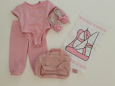 My Twinn Doll Ballet Clothes Outfit Shoes Towel Bag Leotard Pant Slippers