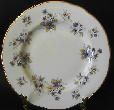 Duchess Bone China England Sideplate - Violets Backstamp in Reverse  RARE