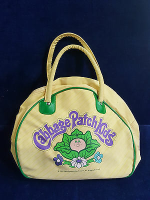 1984 yellow and green Cabbage Patch Kids vinyl tote bag