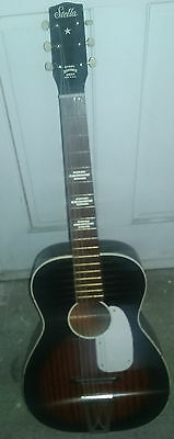 Vintage 1960's Era Harmony H929 Stella 6 String Acoustic Guitar Made In The Usa