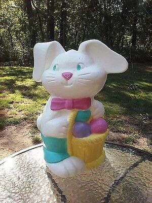 Easter Bunny Rabbit Lighted Blow Mold 18in Floppy Eared Vintage Tpi Canada