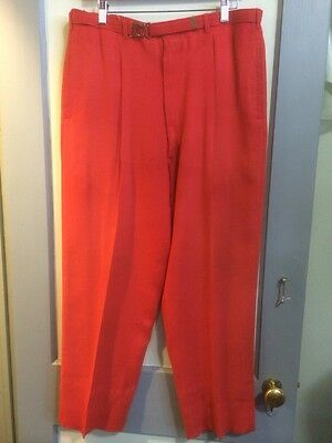 Vtg Rockabilly Slacks 1950s 50s Baggy Hollywood Elvis Red Drop VLV Pants Mens 36