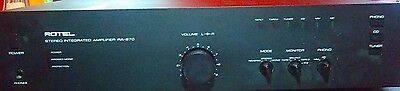 rotel stereo receiver vintage integrated RA-870 GREAT SHAPE! Loud Amp