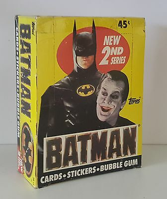 Topps Batman Collectors Cards with Sticker and Bubblegum 2nd Series Sealed Box