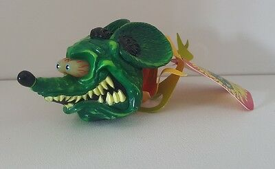 "Rat Fink with Flames ""Ed Roth"" Aerial / Antenna Topper NOS MINT NEW WITH TAG"