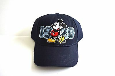 Disney 1928 Classic Blue Mickey Mouse Boys Youth Girls Baseball Hat Cap