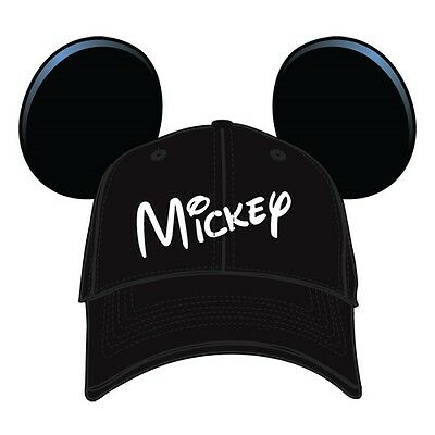 Disney Hat Mickey Mouse Hears with Ears Baseball Cap Black Youth Boys Girls