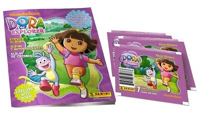 Dora The Explorer Panini Stickers Starter Kit with Album plus over 35 Stickers