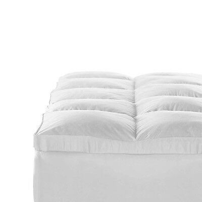 NEW Queen Bed Size 1000GSM Duck Feather & Down Pillowtop Matress Topper - White