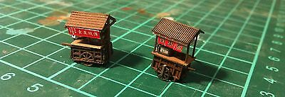 Lasercut Food Stand / Stall / Cart - Style A - Builds 2 Per Kit - N Scale