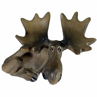 Big Sky Carvers Mini Laying Moose Figurine Hand Cast Resin 4 x 2 inches