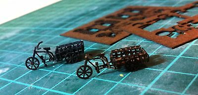 Laser Cut Delivery Tricycle Cart - Builds 2 Per Kit - N Scale