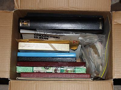 BIG BOX OF AUSTRALIA & WORLD STAMPS & FDC's IN ALBUMS, BOXES & BAGS ETC