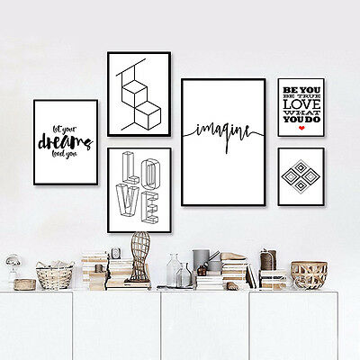 Geometry Abstract Poster Canvas Art Motivational Poster Quote Nordic Decoration