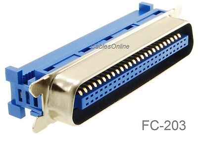 Centronics 50-Pin IDC Type Male CN50 Crimp Connector for Ribbon Cable