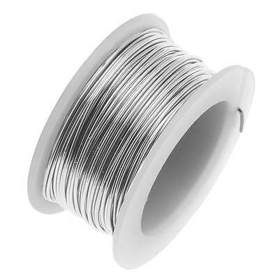 Artistic Wire, Copper Craft Wire 32 Gauge Thick, 30 Yard Spool, Stainless Steel