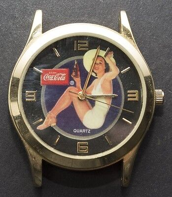 Coca-Cola Coke Quartz Watch Pinup Girl 2003 Stainless Steel Back