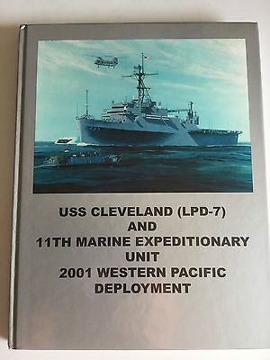 USS Cleveland 11th Marine 2001 Western Pacific Deployment Book LPD-7