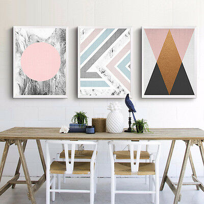 Colorful Geometry Abstract Poster Prints Canvas Art Painting Nordic Decoration