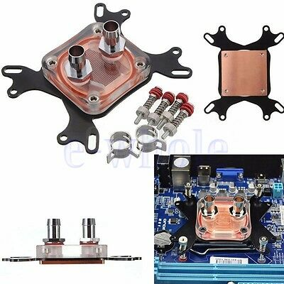 1pcs CPU Water Cooling Block Waterblock 50mm Copper Base Cool Inner Channel K6
