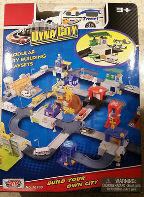 NEW - DYNA CITY - Gasoline Station - Modular City Building Playsets