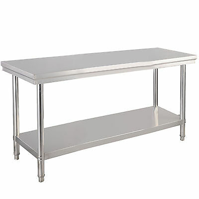 "New 24"" x 48"" Stainless Steel Commercial Kitchen Work Food Prep Table"
