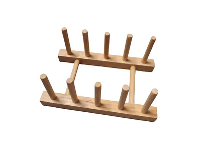 10 Peg Wooden Reborn Baby Drying Rack Stand for Limbs
