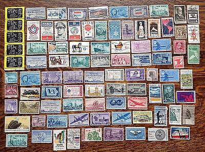 Collection Of Usa United States Stamps Of Paper Used