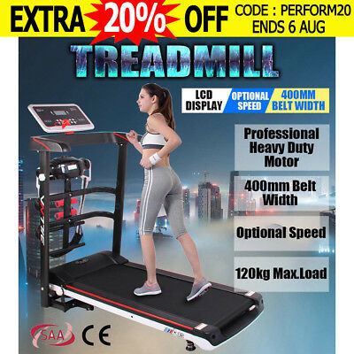 Multifunction Treadmill Fitness Electric Exercise Fold Machine Motor Home Gym