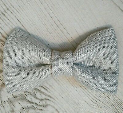 Handmade Children's & Baby Boys Dickie Bow Tie in Laura Ashley Light Grey