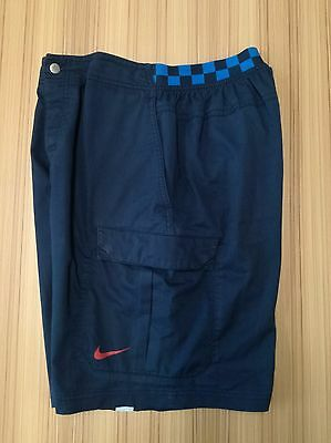 Retro pre-owned 2010 McEnroe Agassi Challenge Court Checkerboard Shorts M